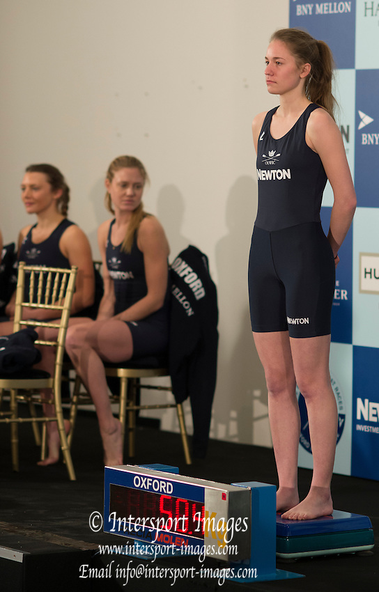 London, Great Britain.  OUWBC Cox Jen EHR at the 2015 Varsity, Crew announcement and Weigh-in, at the Royal Academy of Art.  <br /> <br /> Thursday  19/03/2015<br /> <br /> [Mandatory Credit; Peter SPURRIER/Intersport-images]