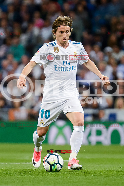Real Madrid Luka Modric during La Liga match between Real Madrid and Athletic Club at Santiago Bernabeu Stadium in Madrid. April 19, 2017. (ALTERPHOTOS/Borja B.Hojas) /NortePhoto.com