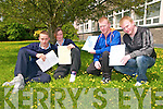 Twins : Twins Alex & Allison Enright & Shane & Richard Heffernan who started  the Junior & Leaving cert exams  respectovely at Listowel Community College on Wednesday.