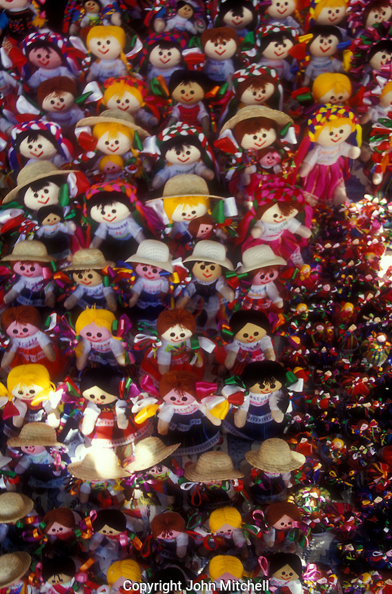 Handmade dolls for sale in in the city of Guanajuato, Mexico