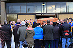 The Remains of Wayne McQuillan being carried from the Holy Family church in Drogheda. Wayne was stabbed to death in the early yours of New Years Morning in Rathmullen in Drogheda.<br /> Picture: Fran Caffrey www.newsfile.ie