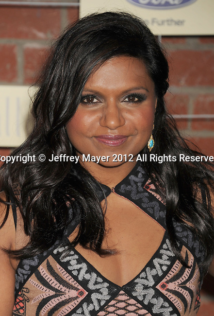 =Culver City=, CA - SEPTEMBER 10: Mindy Kaling arrives at the FOX Fall Eco-Casino Party at The Bookbindery on September 10, 2012 in Culver City, California.