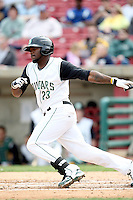 April 11 2010: Rashun Dixon of the Kane County Cougars at Elfstrom Stadium in Geneva, IL. The Cougars are the Low A affiliate of the Oakland A's. Photo by: Chris Proctor/Four Seam Images