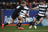 11 March 2013;  Jonny Haldane in action during the Medallion Shield Final between Wallace High School and Campbell College at Ravenhill, Belfast, DICKSONDIGITAL
