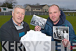Billy Doolan PRO and Shane O'Callaghan Chairman with the transcript for the new book about Kilcummin GAA club, which is currently being edited for publication