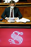 Senate workers during the Italian Prime Minister's information about Covid-19 emergency at the Senate. Rome (Italy), July 28th 2020<br /> Photo Samantha Zucchi Insidefoto
