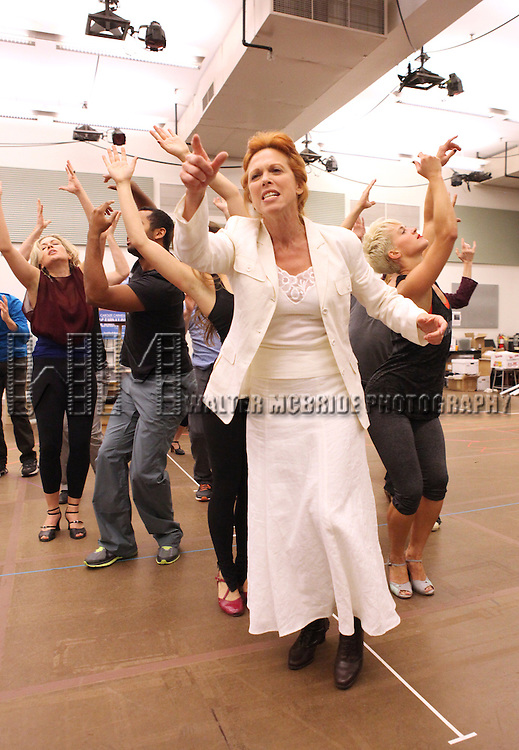 Carolee Carmello and ensemble performing at the rehearsal presentation for 'Scandalous The Musical' at the New 42nd Street Studios on Monday, Sept. 24, 2012 in New York.