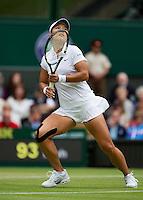 02-07-13, England, London,  AELTC, Wimbledon, Tennis, Wimbledon 2013, Day eight, Na Li (CHN)<br /> <br /> <br /> Photo: Henk Koster
