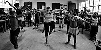 Mama Hope dancing with her students in Nyanga