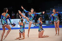 Belarus senior group performs routine at 2011 World Cup at Portimao, Portugal on April 28, 2011.