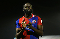 Manny Onariase of Dagenham applauds the away fans at the end of the match during Bromley vs Dagenham & Redbridge, Vanarama National League Football at the H2T Group Stadium on 24th November 2018