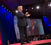 United States President Donald J. Trump  speaks at the Conservative Political Action Conference (CPAC) at the Gaylord National Resort and Convention Center in National Harbor, Maryland on Friday, February 23, 2018.<br /> Credit: Chris Kleponis / Pool via CNP