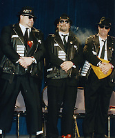 Blues Brothers6025.JPG<br /> <br /> 1997 <br /> John Goodman, James Belushi,<br /> Dan Aykroyd, James Brown 1997<br /> Photo to By John Barrett-PHOTOlink.net/MediaPunch