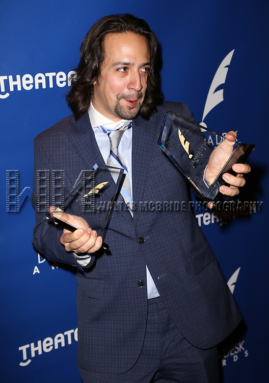 Lin-Manuel Miranda visits the 2015 Drama Desk Awards Media Room at Marriott Marquis Times Square on May 31, 2015 in New York City.