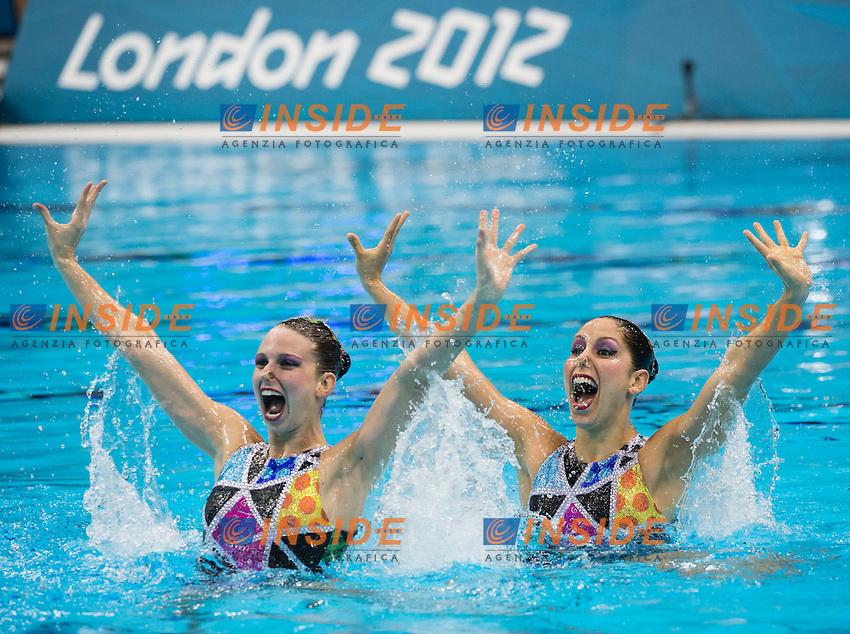 FIGUEIRA Nayara, TEIXEIRA Lara Brazil.Technical Duet.Synchronized Swimming preliminaries.London 2012 Olympics - Olimpiadi Londra 2012.day 10 Aug.5.Photo G.Scala/Deepbluemedia.eu/Insidefoto