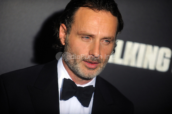 Andrew Lincoln  attend 'The Walking Dead' season six premiere at Madison Square Garden  on October 09, 2015 in New York. Credit: Dennis Van Tine/MediaPunch