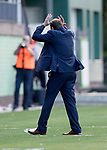 FK Trakai v St Johnstone&hellip;06.07.17&hellip; Europa League 1st Qualifying Round 2nd Leg, Vilnius, Lithuania.<br />Tommy Wright shows his frustration as he turns away from the match<br />Picture by Graeme Hart.<br />Copyright Perthshire Picture Agency<br />Tel: 01738 623350  Mobile: 07990 594431