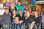 8875-8879.NIFTY FIFTY: John Joe O'Donnell, Camp (seated) celebrated his 50th birthday last Friday night in the Junction bar, Lower Camp with his wife Ann, daughter Sarah, sons Michael & Jason and many family and friends.