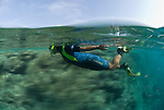 Drift snorkle in Clerke Reef channel.Rowley Shoals, Western Australia