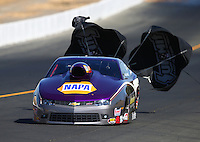 Jul. 26, 2014; Sonoma, CA, USA; NHRA pro stock driver Vincent Nobile during qualifying for the Sonoma Nationals at Sonoma Raceway. Mandatory Credit: Mark J. Rebilas-
