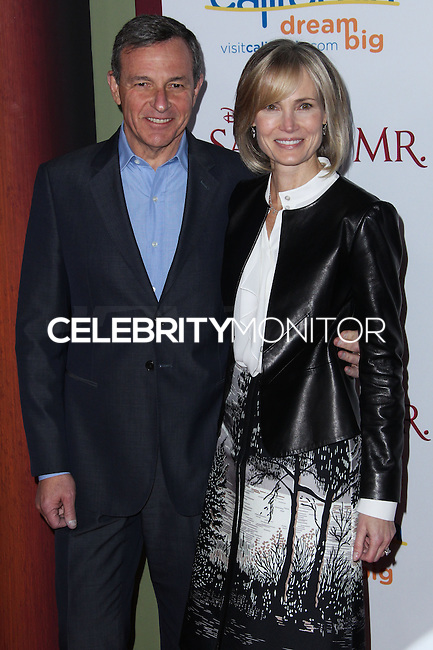 "BURBANK, CA - DECEMBER 09: Bob Iger, Willow Bay arriving at the U.S. Premiere Of Disney's ""Saving Mr. Banks"" held at Walt Disney Studios on December 9, 2013 in Burbank, California. (Photo by Xavier Collin/Celebrity Monitor)"