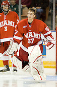 Jeff Zatkoff (MiamiU - Chesterfield, MI) is announced as a starter before the 2007 NCAA Northeast Regional Final on Sunday, March 25, 2007 at the Verizon Wireless Arena in Manchester, New Hampshire.