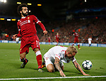 Mohamed Salah of Liverpool during the Champions League Group E match at the Anfield Stadium, Liverpool. Picture date 13th September 2017. Picture credit should read: Simon Bellis/Sportimage