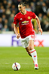 Manchester United's Zlatan Ibrahimovic during the Europa League Quarter Final 1st leg match at RSCA Constant Vanden Stock Stadium, Anderlecht, Belgium. Picture date: April 13th, 2017.Pic credit should read: Charlie Forgham-Bailey/Sportimage