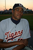 August 14, 2003:  Ezequiel Perez of the Oneonta Tigers during a game at Doubleday Field in Auburn, New York.  Photo by:  Mike Janes/Four Seam Images