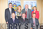 CBS THE GREEN: John O'Keeffe, Ballmullen, Tralee (40 years), Anthony O'Keeffe Anthony O'Keeffe, Oakpark, Tralee (38 years, 9 as principal) and Kevin Rolls, The Spa (36 years) with member's of the Board of Management of the CBS the Green, Tralee at their retirement party at the Carlton hotel, Tralee on Friday front l-r: John O'Keeffe, Anthony O'Keeffe and Kevin Rolls.