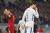 31st October 2017, Stadio Olimpico, Rome, Italy; UEFA Champions League, Roma versus Chelsea;  Alvaro Morata of Chelsea is upset