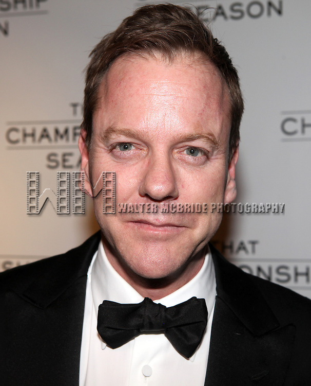 Kiefer Sutherland.attending the Opening Night Performance After Party for  'That Championship Season' at Gotham Hall in New York City.