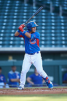 AZL Cubs 2 Orian Nunez (18) at bat during an Arizona League game against the AZL Dbacks on June 25, 2019 at Sloan Park in Mesa, Arizona. AZL Cubs 2 defeated the AZL Dbacks 4-0. (Zachary Lucy/Four Seam Images)