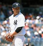 Masahiro Tanaka (Yankees), JULY 23, 2015 - MLB : New York Yankees starting pitcher Masahiro Tanaka looks during a baseball game against the Baltimore Orioles at Yankee Stadium in New York, United States. (Photo by AFLO)
