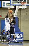 Junior forward Samarie Walker rebounds the ball at the Women's Basketball game at Memorial Coliseum in Lexington, Ky., on Saturday, November. 17, 2012..