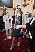 London, UK. 13 September 2014. Backstage at the Julien Macdonald show at London Fashion Week SS15 at the Royal Opera House in London, England. Photo: CatwalkFashion/Alamy Live News