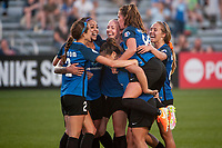 Kansas City, MO - Saturday May 27, 2017: Sydney Leroux, Becky Sauerbrunn, Shea Groom, Lo'eau Labonta, Alexa Newfield,  Brittany Ratcliffe during a regular season National Women's Soccer League (NWSL) match between FC Kansas City and the Washington Spirit at Children's Mercy Victory Field.