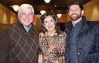Al and Debby Gordon (from left) and Jacob Arnold enjoy the Burlsworth Foundation reception.<br /> (NWA Democrat-Gazette/Carin Schoppmeyer)