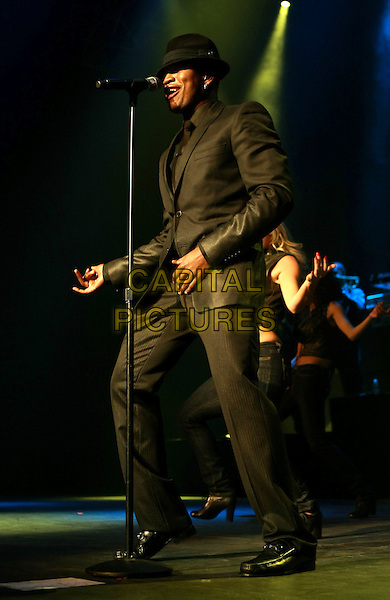 NE-YO (Shaffer Chimere Smith) .performs at the Pearl Concert Theater inside the Palms Resort Hotel and Casino, Las Vegas, Nevada, USA, .1st January 2010..Ne Yo live on stage music gig full length grey gray black suit hat microphone singing .CAP/ADM/MJT.©MJT/Admedia/Capital Pictures