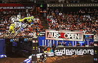 Cheyne Boyd (Yamaha) final.<br />  AUS-X Open / SX1<br /> Sydney NSW Saturday 28 November 2015<br /> &copy; Sport the library / Courtney Crow