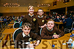 Gaels coil Mhic Easmainn, Max De Burca, Brian O'Domhnaill, Caoimhe Liathain, Seamus O'Luasaigh at the Credit Union Chapter 23 Primary school's Quiz in the Ballyroe Heights Hotel on Sunday