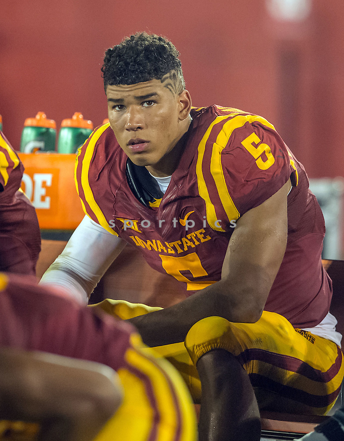 Iowa State Cyclones Allen Lazard (5) during a game against the Northern Iowa Panthers on September 5, 2015 at Jack Trice Stadium in Ames, Iowa. Iowa State beat Northern Iowa 31-7.