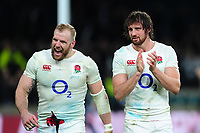 James Haskell and Tom Wood look on after the match. RBS Six Nations match between England and Scotland on March 11, 2017 at Twickenham Stadium in London, England. Photo by: Patrick Khachfe / Onside Images