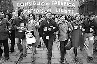 - Milano,  1976, sciopero dei lavoratori dipendenti Montedison<br /> <br /> - Milan, 1976, strike of Montedison employees