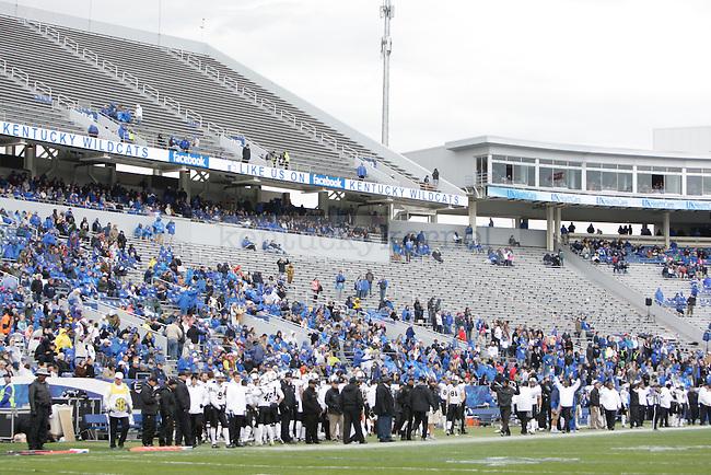 The University of Kentucky football team plays the Vanderbilt Commodores in Commonwealth Stadium Saturday November 3, 2012. Photo by Scott Hannigan