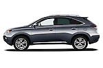 Driver side profile view of a 2013 Lexus RX 450H