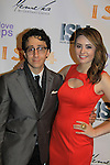 """Teo Olivares and Days of Our Lives Jillian Claire """"Abigail Devereaux"""" is nominated as best actress - drama in Miss Behave and is a presenter at We Love Soaps and The Indie Series Network present the 4th Annual Indie Soap Awards - ISAs on February 19, 2013 from New World Stages, New York City, New York - (Photo by Sue Coflin/Max Photos)"""