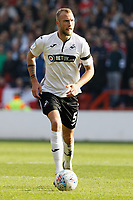 Mike van der Hoorn of Swansea City in action during the Sky Bet Championship match between Nottingham Forest and Swansea City at City Ground, Nottingham, England, UK. Saturday 30 March 2019
