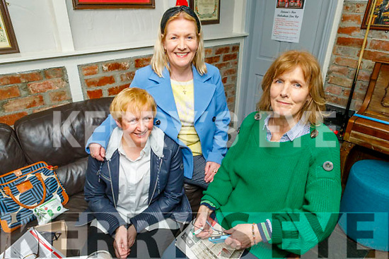 Joan O'Connell, Bridget Leen and Julia Feely in Linnanes Bar enjoying the Gold Cup on Friday.