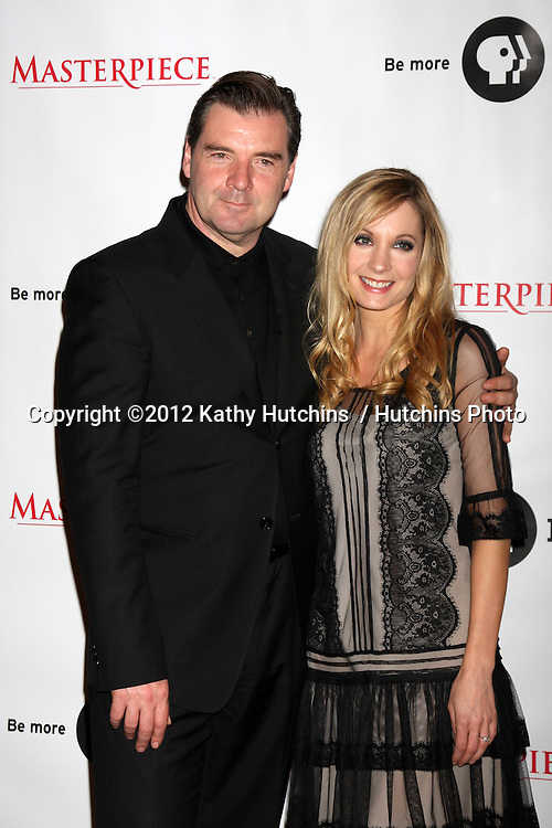 """LOS ANGELES - JUL 21:  Brendan Coyle, Joanne Froggatt at a photocall for """"Downton Abby"""" at Beverly Hilton Hotel on July 21, 2012 in Beverly Hills, CA"""